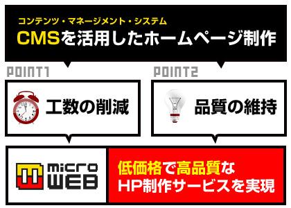 CMSを活用して低価格で高品質なHP制作を実現!